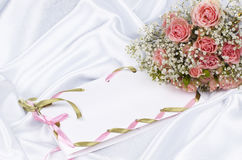 Beautiful bouquet and card for your text Stock Image
