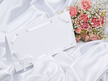 Beautiful bouquet and card for your text Royalty Free Stock Images