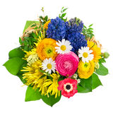 Beautiful bouquet of colorful spring flowers Stock Photos