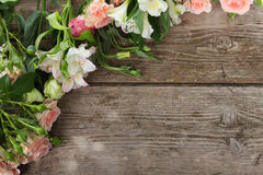 Beautiful bouquet of different flowers Royalty Free Stock Images