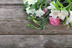 Beautiful bouquet of different flowers Stock Photos