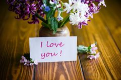 Beautiful bouquet of early spring flowers Stock Photography