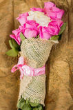 Beautiful bouquet of Ecuadorian pink roses Royalty Free Stock Photography