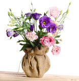 Beautiful bouquet of eustoma flowers Royalty Free Stock Photos