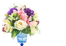 Beautiful bouquet flower in vase Royalty Free Stock Photos