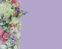 Beautiful bouquet flowers with different types of colorful flowe Royalty Free Stock Photos