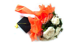 Beautiful bouquet flowers for graduate Stock Photo