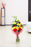 Beautiful bouquet of flowers in the interior.  Royalty Free Stock Images