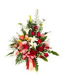 Beautiful bouquet of flowers isolated Stock Photo