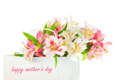 Beautiful bouquet of  flowers for mother's day Royalty Free Stock Photos
