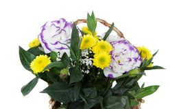Beautiful bouquet of flowers over white Stock Image