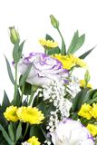 Beautiful bouquet of flowers over white Stock Photo