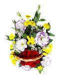 Beautiful bouquet of flowers over white Royalty Free Stock Image