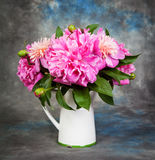 Beautiful bouquet of flowers - peonies. Royalty Free Stock Photo
