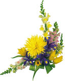 Beautiful bouquet of flowers, red and yellow flowers in the corn. Beautiful bouquet of flowers photo pictures red the white yellow Stock Photo