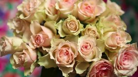 Beautiful bouquet Flowers roses stock video footage