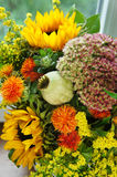 Beautiful bouquet of flowers and sunflowers Stock Photos