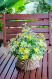 Beautiful bouquet of flowers. Beautiful bouquet of yellow flowers Royalty Free Stock Images