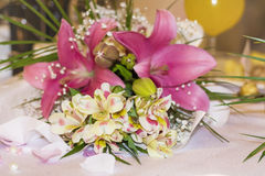 Beautiful  bouquet with freesia flowers Stock Images