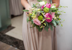 Beautiful bouquet of fresh, odorous roses, the bride, wedding, f Stock Image