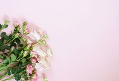 Beautiful bouquet of gently pink roses and ranunculus Royalty Free Stock Images