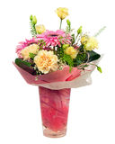 Beautiful bouquet of gerbera, carnations and other flowers. Stock Image
