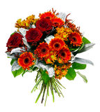 Beautiful bouquet of gerberas and roses royalty free stock images