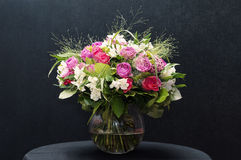 Beautiful bouquet. In a glass vase Royalty Free Stock Images