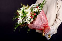 Beautiful bouquet - a great gift for the holiday stock image