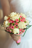 Beautiful bouquet in hand of bride Royalty Free Stock Images