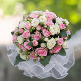 Beautiful bouquet in hand of bride Stock Photo
