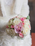 Beautiful bouquet in hands of bride Royalty Free Stock Photos