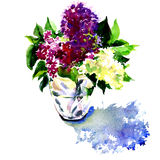 Beautiful bouquet of Lilac in the Vase Stock Image