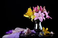 Beautiful bouquet with lilies Stock Image