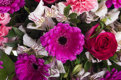 Beautiful bouquet of many colorful flowers Stock Photo