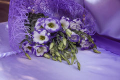 Beautiful bouquet in mauve color Stock Photos