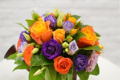 Beautiful bouquet from orange flowers. royalty free stock images