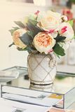Beautiful bouquet of peonies in a vase royalty free stock photo