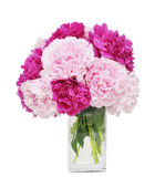 Beautiful bouquet of peonies Stock Photography