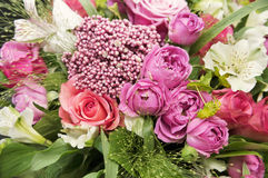 Beautiful bouquet. Beautiful pink bouquet close up Royalty Free Stock Image