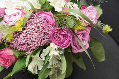 Beautiful bouquet. Beautiful pink bouquet close up Stock Photography