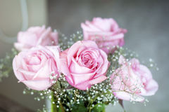 Beautiful bouquet of pink  roses -close up Royalty Free Stock Images