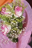 Beautiful bouquet of pink  roses -close up Stock Photo