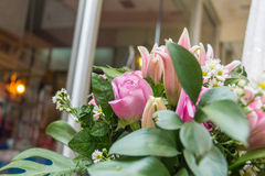 Beautiful bouquet of pink roses Stock Photo