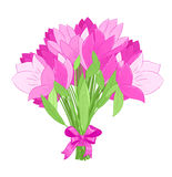 Beautiful bouquet of pink tulips Stock Photography