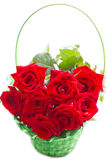 Beautiful bouquet of red roses. Royalty Free Stock Photos