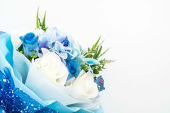 Bouquet of rose flowers. Beautiful bouquet of rose flowers on white background Royalty Free Stock Photography