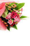 Beautiful bouquet of roses and carnations. Royalty Free Stock Images