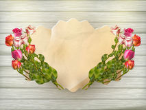 Beautiful bouquet roses. EPS 10 Stock Images