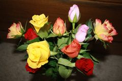 A beautiful bouquet of roses. stock photography